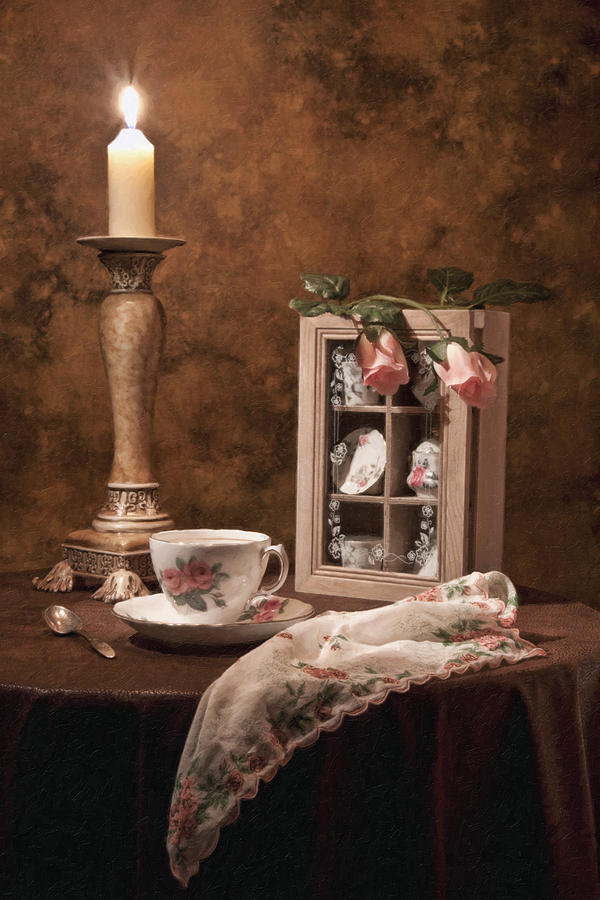 Teacup Photograph - Evening Tea Still Life by Tom Mc Nemar