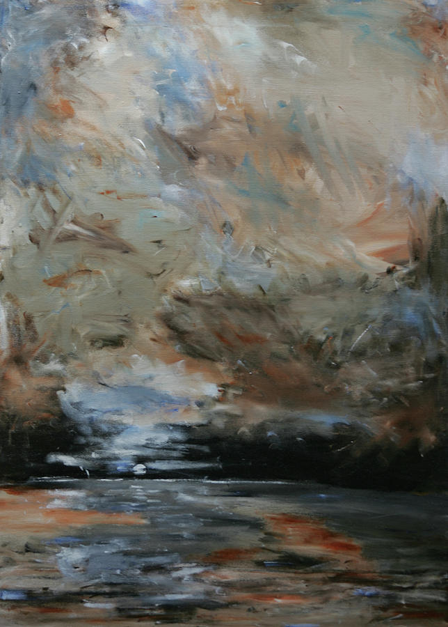 Abstract Painting - Evening Tide by Robin Lee