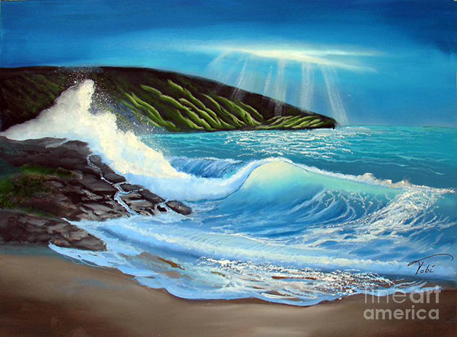 Seascape Painting - Evening Tide by Tobi Czumak
