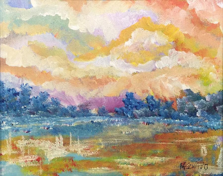Impressionism Painting - Evening Walk by Mark Szwabo