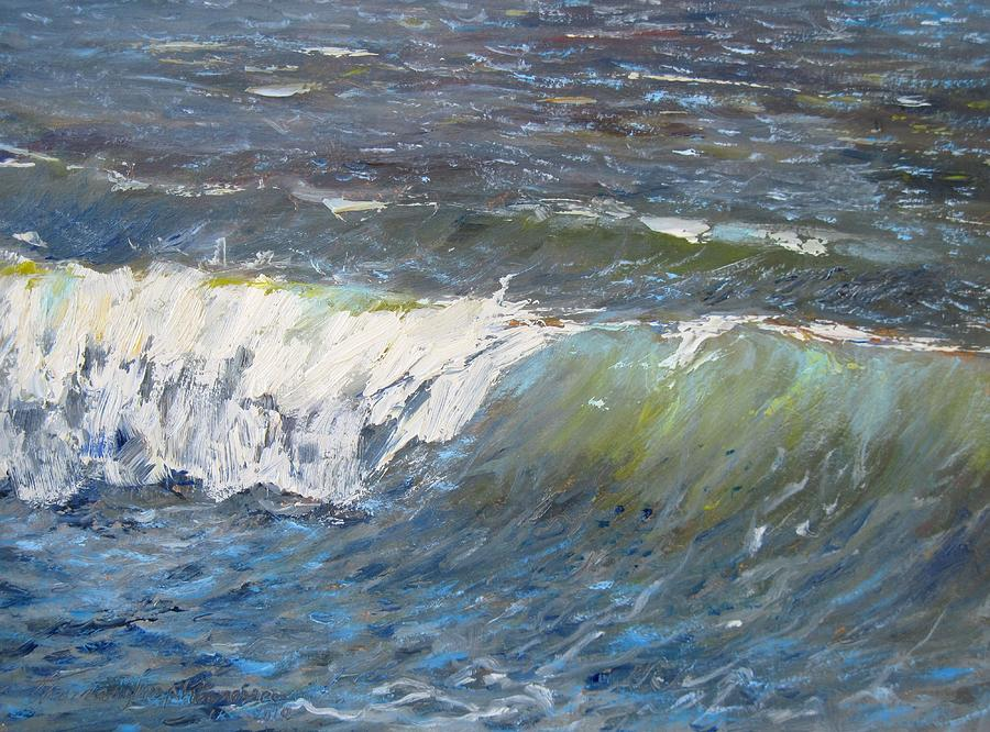 Seascape Painting - Evening Wave by Thomas Glass Phinnessee