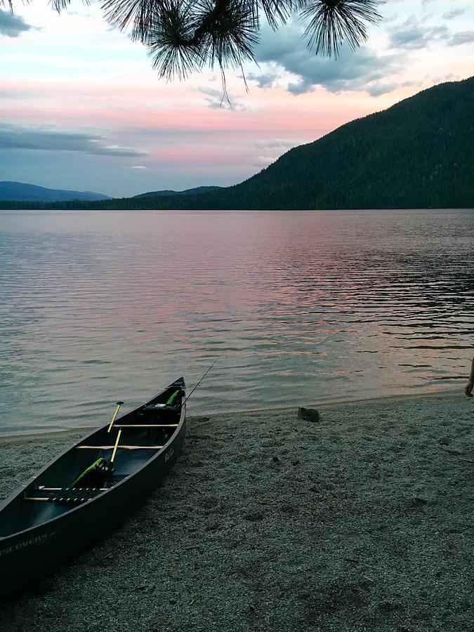 Canoe Photograph - Evensong by Joseph Noonan
