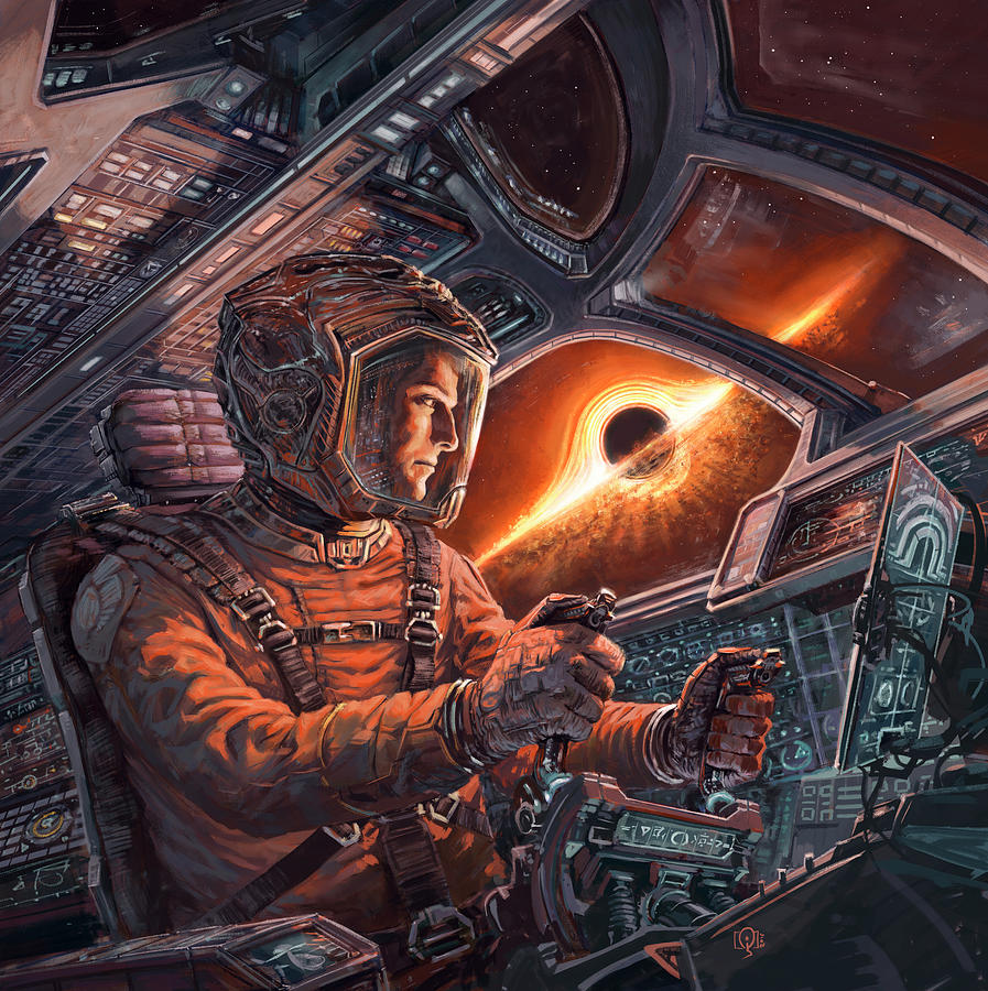 Event Horizon Painting by Odysseas Stamoglou