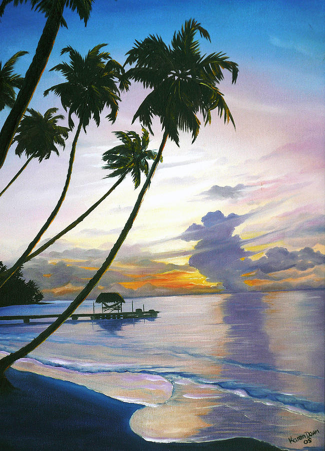 Eventide Tobago Painting by Karin  Dawn Kelshall- Best