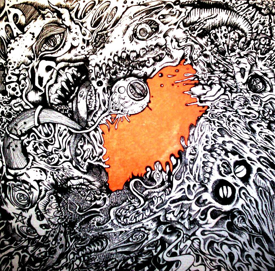 Trippy Painting - Ever Decreasing Madness by Sam Hane