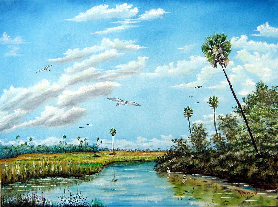 Art Work Painting - Everglades Inlet by Riley Geddings