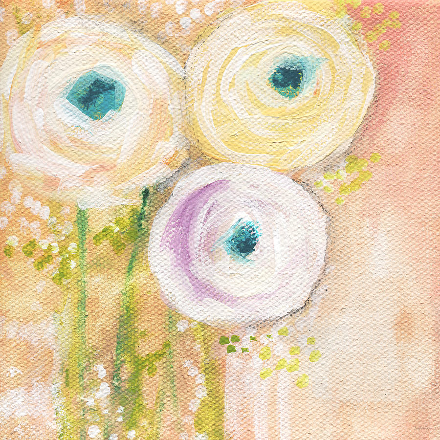 Everlasting- Expressionist Floral Painting Painting