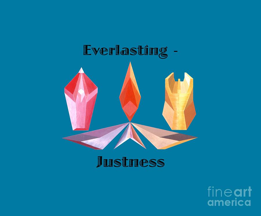 Tarot Painting - Everlasting-Justness text by Michael Bellon