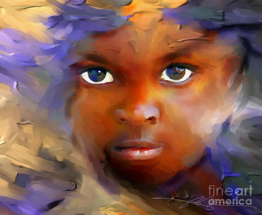 Haiti Painting - Every Child by Bob Salo