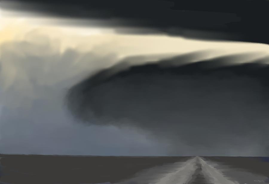 Storm Digital Art - Every Day Dangers by Kerry Beverly