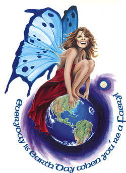 Faery Painting - Every Day Is Earth Day by Linda Laforge