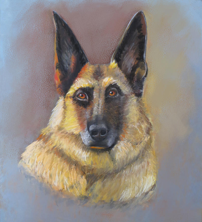 Every Dog Has Its Day Pastel by Karen Sperling