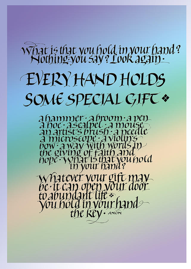 Achievement Painting - Every Hand by Judy Dodds