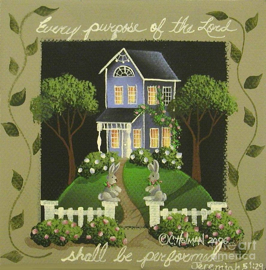 Print Painting - Every Purpose Of The Lord... by Catherine Holman