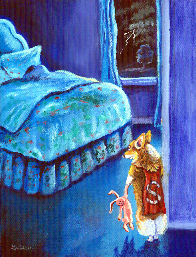 Pembroke Welsh Corgi Painting - Every Super Hero Has A Moment by Lyn Cook
