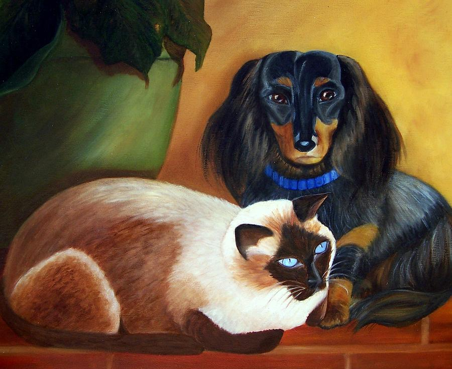 Cat Painting - Everybody Needs Somebody by Susan Dehlinger