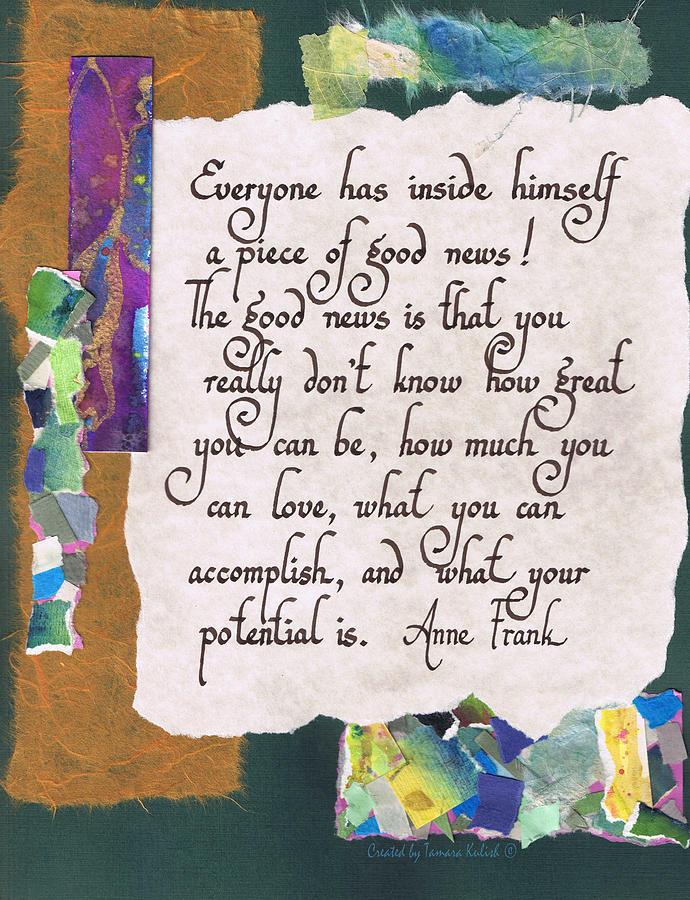 Abstract Painting - Everyone has inside himself a piece of good news - green by Tamara Kulish