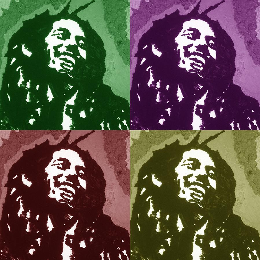 Bob Marley Drawing - Everything Is Going To Be Alright by Robert Margetts