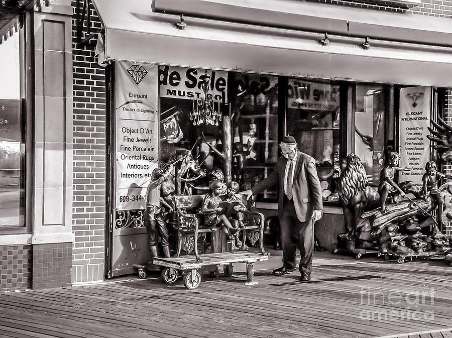 Monochrome Photograph - Everything Must Go by Claudia M Photography