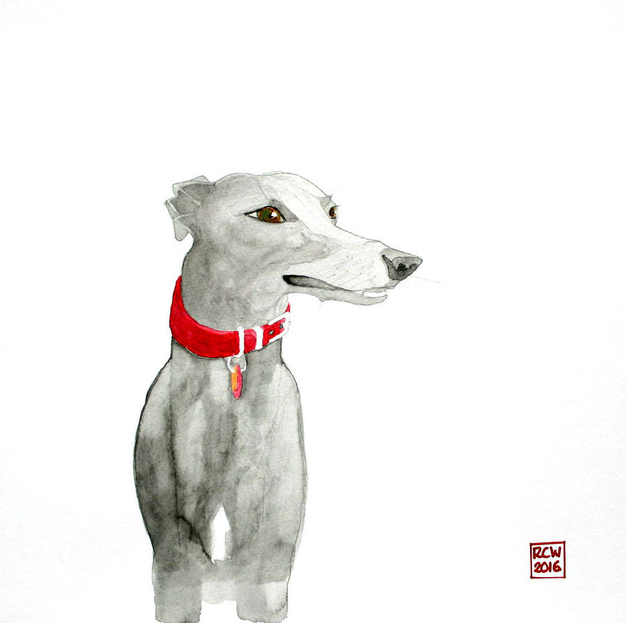 Dog Painting - Evie by Richard Williamson