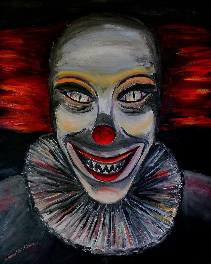 clown | Cakehead Loves Evil |Creepy Clown Painting