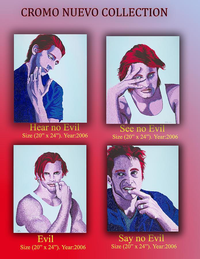 Portrait Painting - Evil Collection by Pablo Hernandez