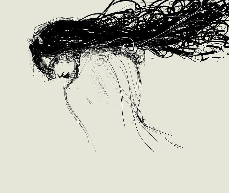 Evilina Digital Art by Raj