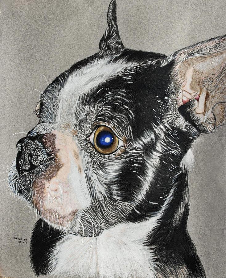 Dogs Painting - Evo by Ada Astacio