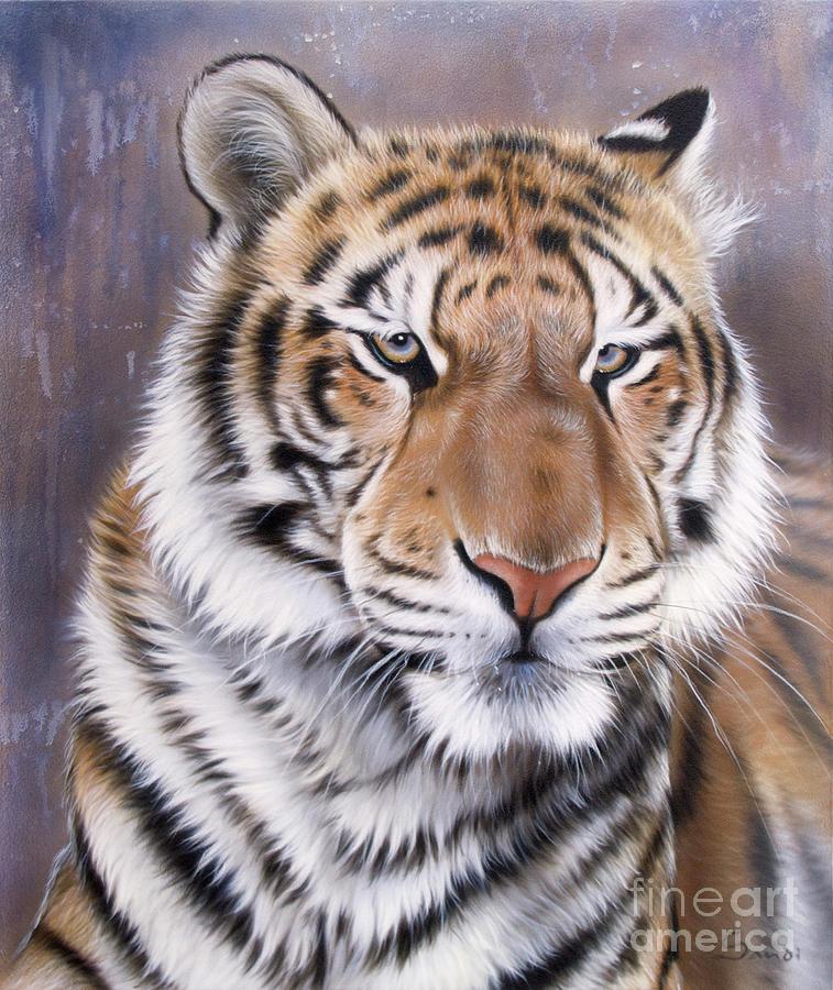 Wildlife Painting - Evo by Sandi Baker
