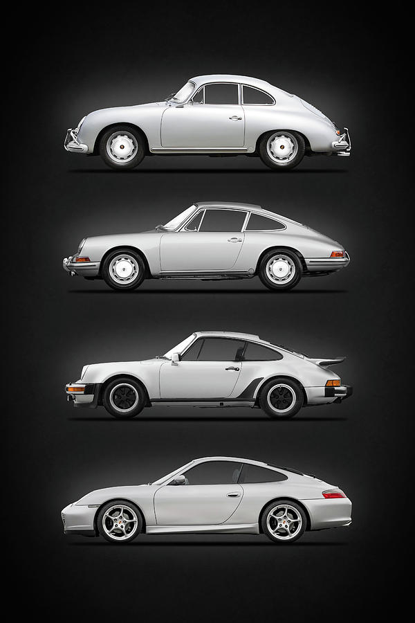 Porsche Photograph - Evolution Of The 911 by Mark Rogan