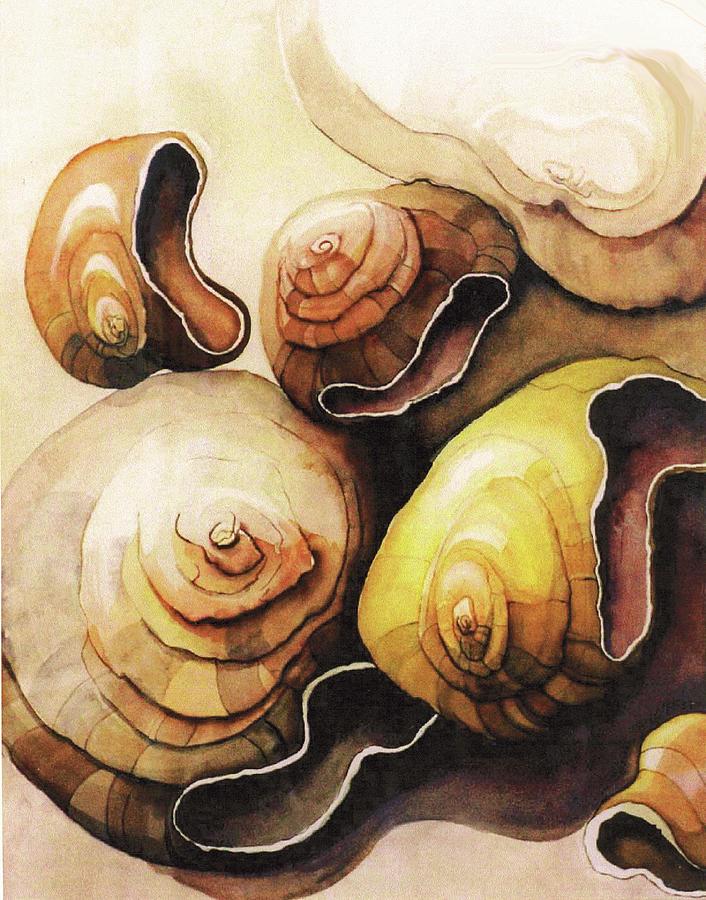 Original Painting - Evolving Shells by Lynda Lehmann