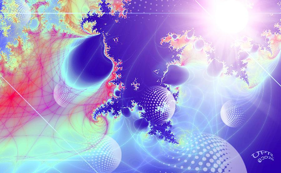 Universe Digital Art - Evolving Universe by Ute Posegga-Rudel