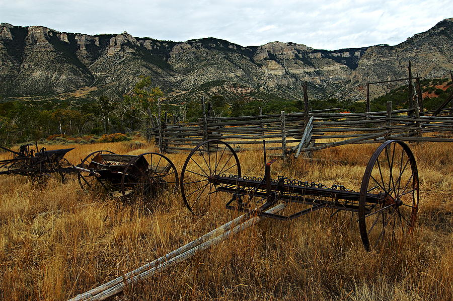 Wyoming Photograph - Ewing-snell Ranch 4 by Larry Ricker