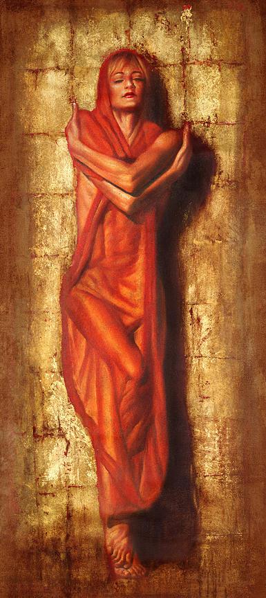 Woman Painting - Ex Auro by Tomasz Rut
