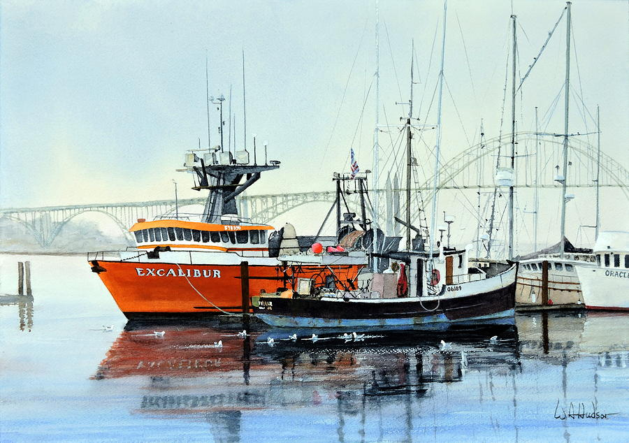 Maritime Painting - Excalibur by Bill Hudson