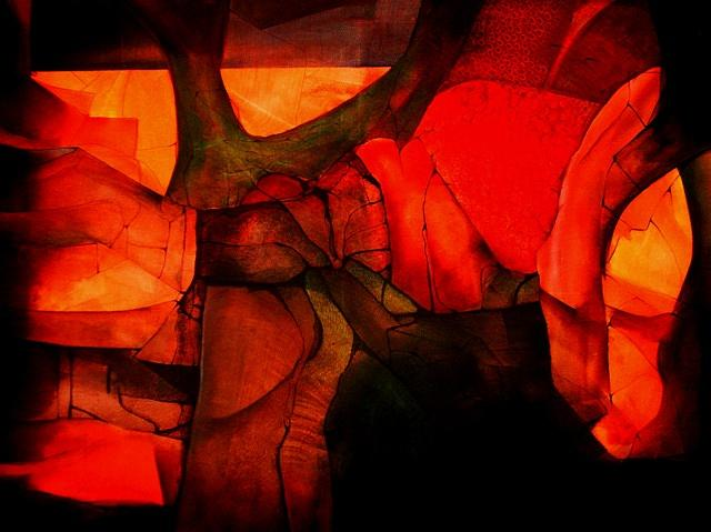 Excavation - Ll Painting by Anand Bedrala