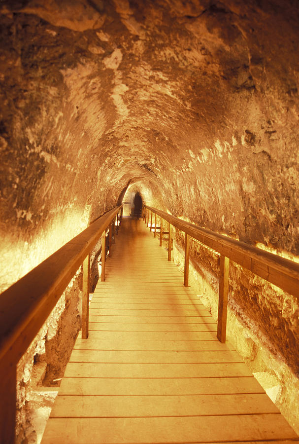 Israel Photograph - Excavations Of The Ancient Water Tunnel by Richard Nowitz