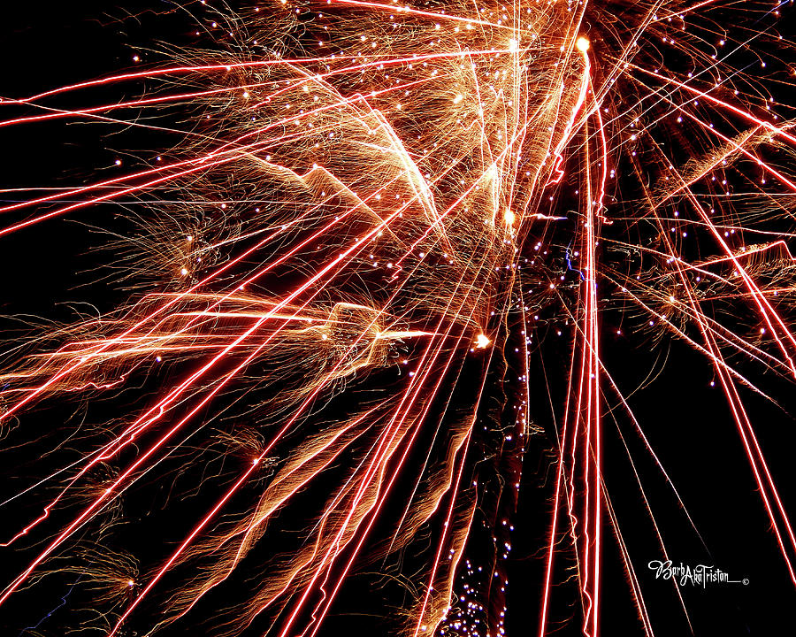 Fireworks Photograph - Exciting Fireworks #0734 by Barbara Tristan