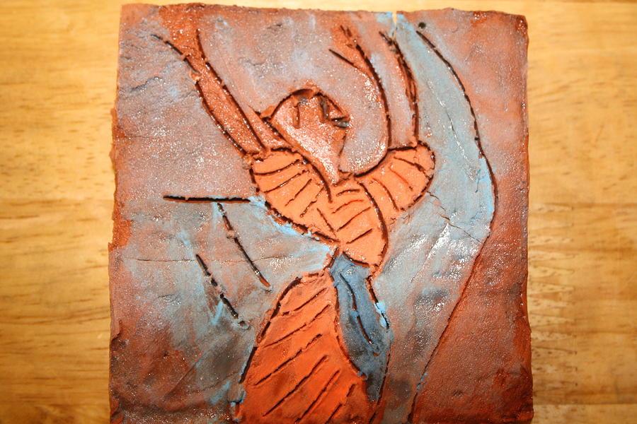 Jesus Ceramic Art - Exclaim - Tile by Gloria Ssali
