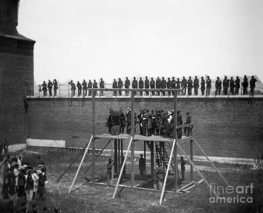 1865 Photograph - Execution Of Conspirators by Granger