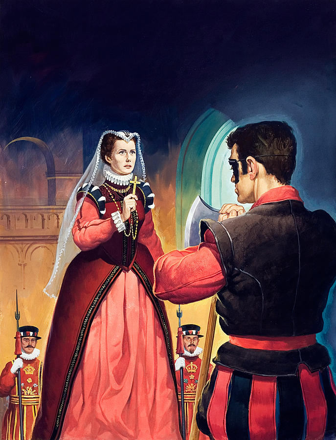 Execution Painting - Execution Of Mary Queen Of Scots by English School