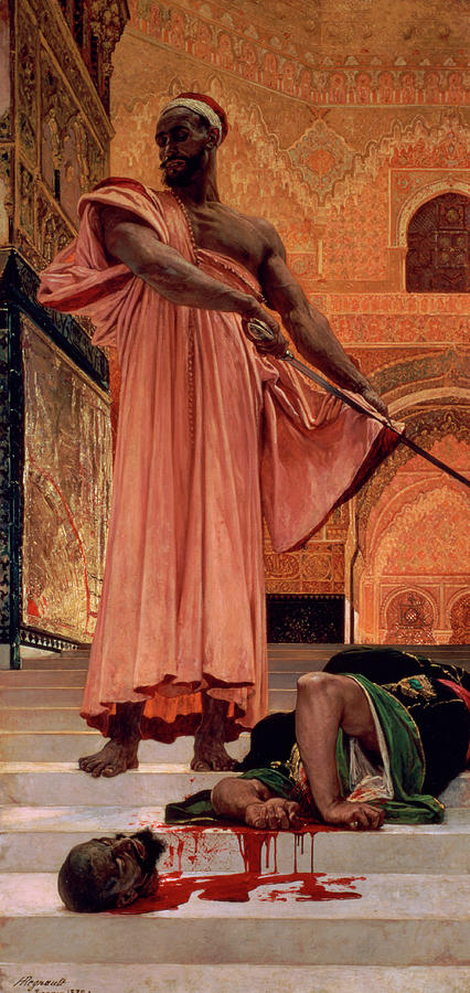 Warrior Painting - Execution Without Trial Under The Moorish Kings In Granada by Henri Regnault