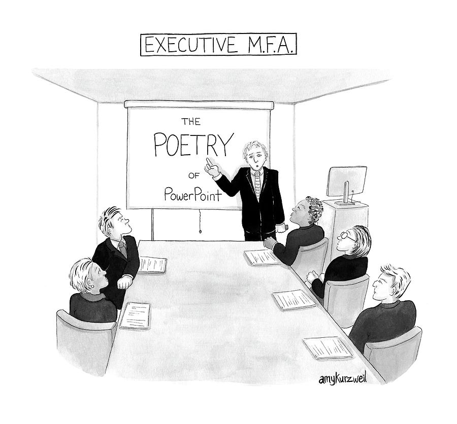 Executive MFA Drawing by Amy Kurzweil