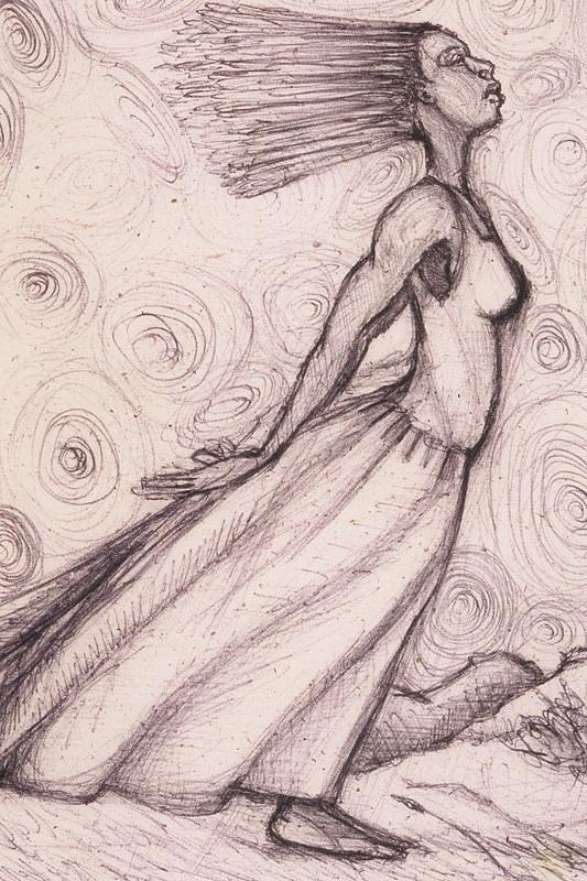 Malik Seneferu Drawing - Exhaled by Malik Seneferu