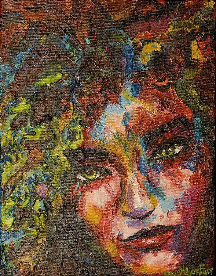 Vibrant Painting - Exhilarating Darkness by Alice Fairbank Furr