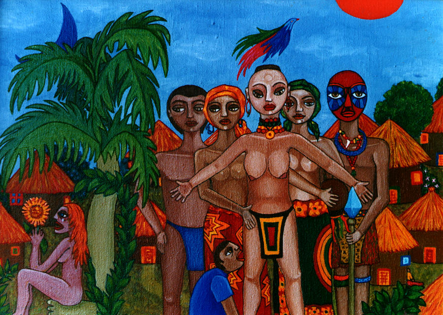 Homeland Painting - Exiled In Homeland by Madalena Lobao-Tello