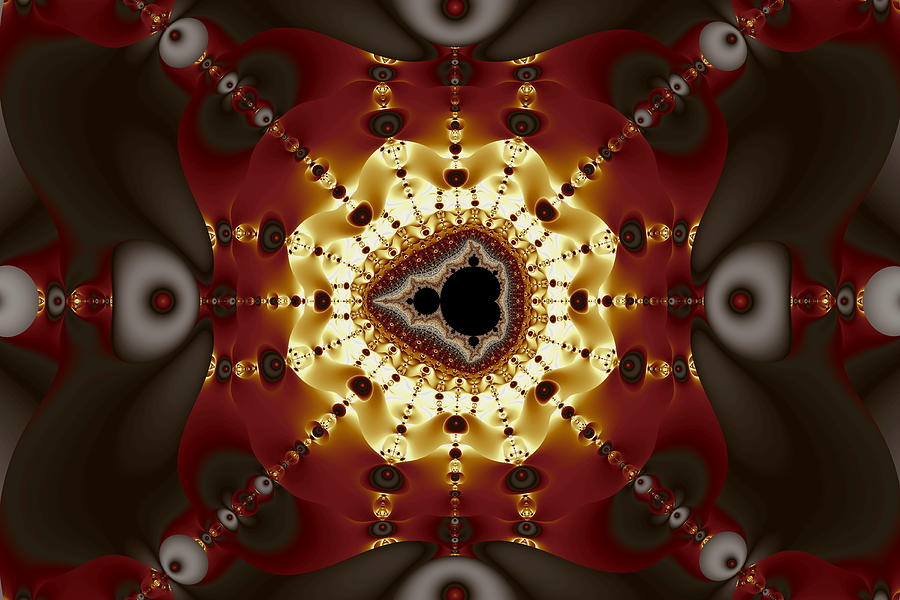 Abstract Digital Art - Exiled Mandelbrot No. 9 by Mark Eggleston