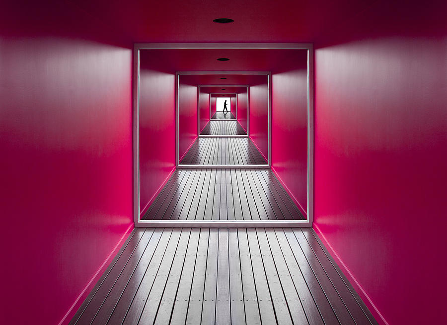 Pink Photograph - Exit by Jacqueline Hammer