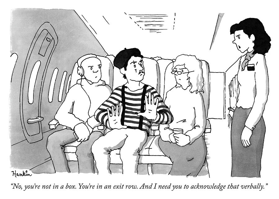 Exit Row Drawing by Charlie Hankin