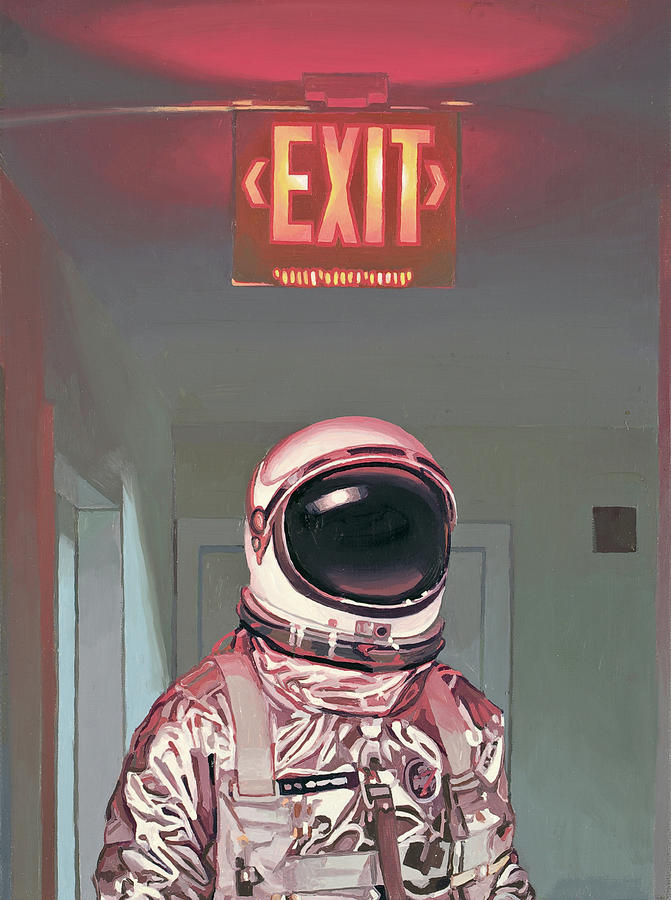 Astronaut Painting - Exit by Scott Listfield